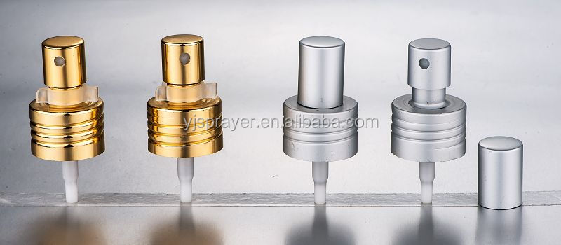 Factory aluminum plastic perfume mist sprayer crimp pump with13 mm 15mm 18mm 20mm 24mm