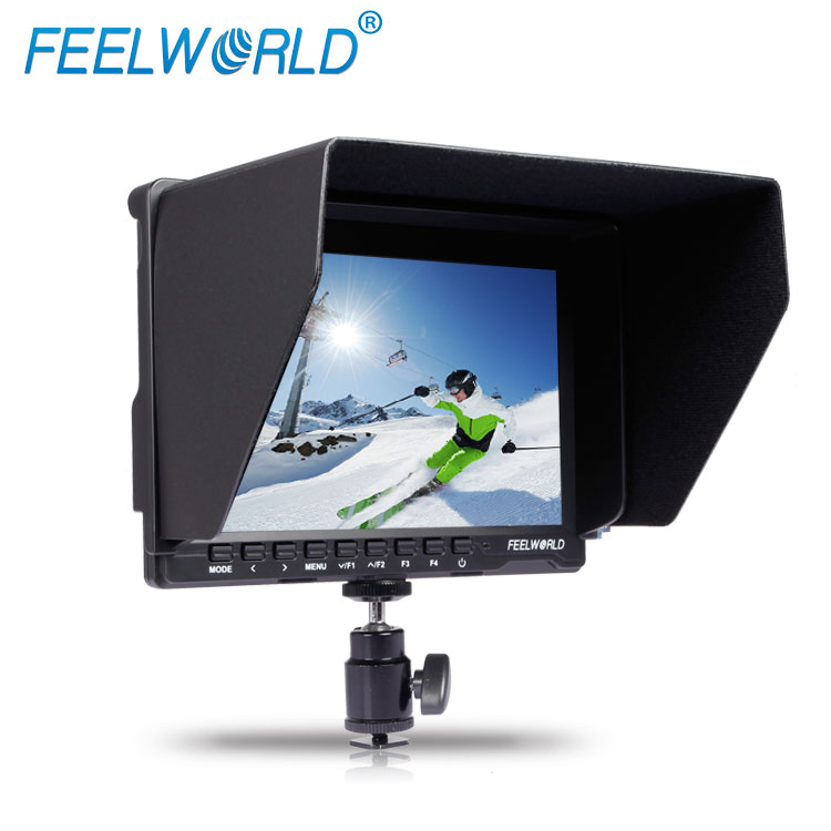 17mm thickness 7 inch full hd dslr lcd monitor IPS panel hdmi dual video Input and active Loop-through flycam stabilizer