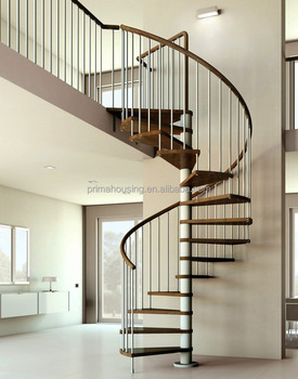 Spiral Stair With Steel Handrail Design Or Spiral Staircase Plans Free