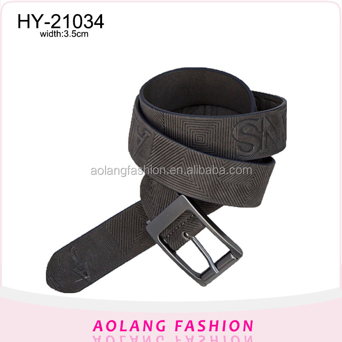 Man's classical embossed fashion PU belt