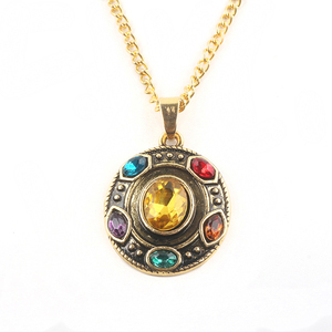 New Arrivals 2018 US THANOS Pendant Necklace Avengers The Infinity War Stones Fashion Jewelry