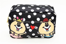 China wholesale leather cosmetic bag with cartoon picture