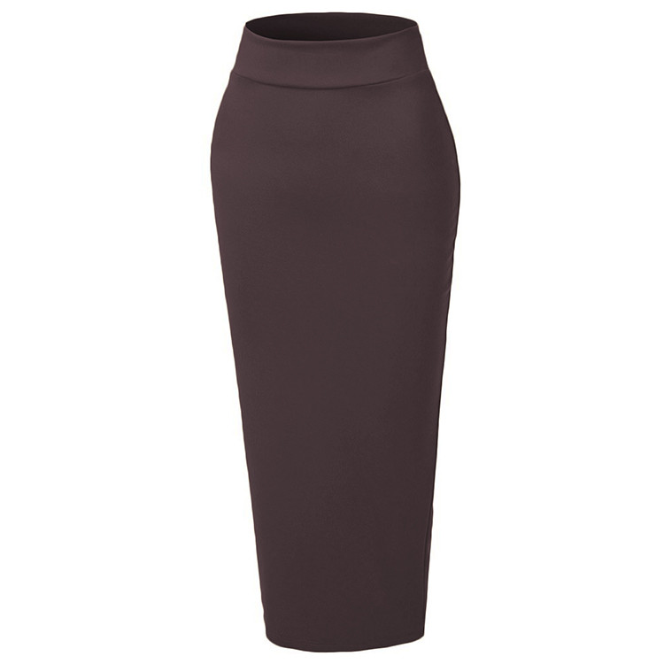 2018 Fashion colorful long pencil skirts for muslim women
