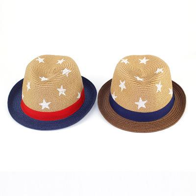 2019 de alta qualidade bonito engraçado criança chapéu de cowboy da palha  com estrela promocionais 81b777c92c5