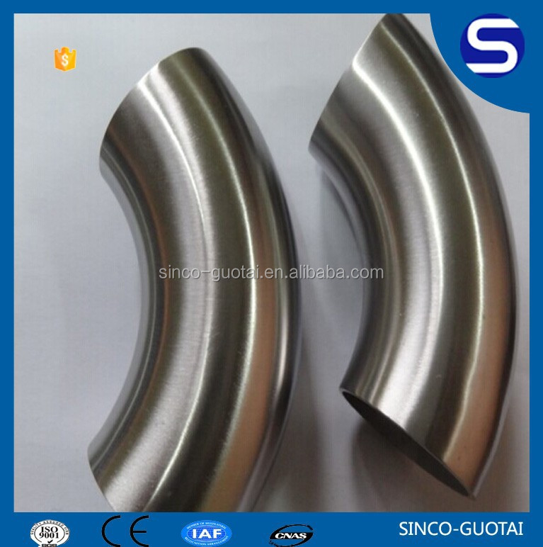 Factory price SS304 316 stair pipe stainless steel elbow