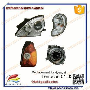 Auto Parts Car Lamp Headlight Replacement For Hyundai Terracan 01 03