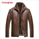 Chonghan Cheap Fashion Design Brown Colour Men Jeather Jacket Apparel Stock Lots
