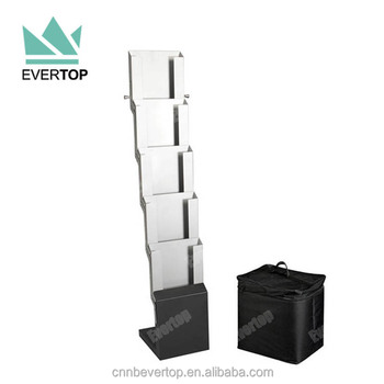 Ms40b Folding Magazine RackFolding Collapsible Magazine Stand Custom Foldable Magazine Holder