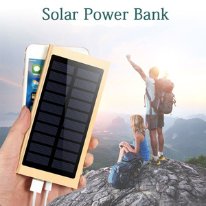 20000mah Solar Power Bank External Battery Quick Charge Dual USB Powerbank Portable Phone Charger for iPhone 8 X