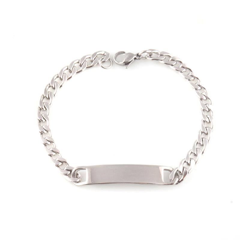 New design Stainless Steel ID Bracelet, Silver