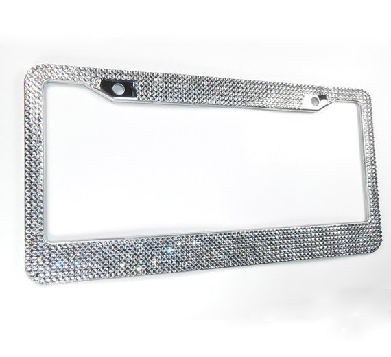 Amerikaanse Bling Bling kristal auto strass nummerplaat frame voor USA