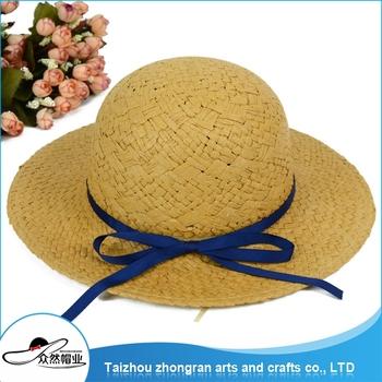 45e0dda9f8e Wholesale Children Solid Wide Brim Floppy Straw Hat Beach Sun Hats ...
