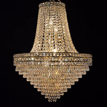 Classic gold empire simple crystal chandeliers living room light classic gold empire simple crystal chandeliers living room light fixture for diwali decoration lt 71126 aloadofball Gallery