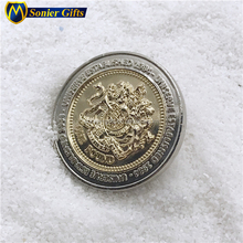 3d euro 1 oz gold and silver 999 plated coin