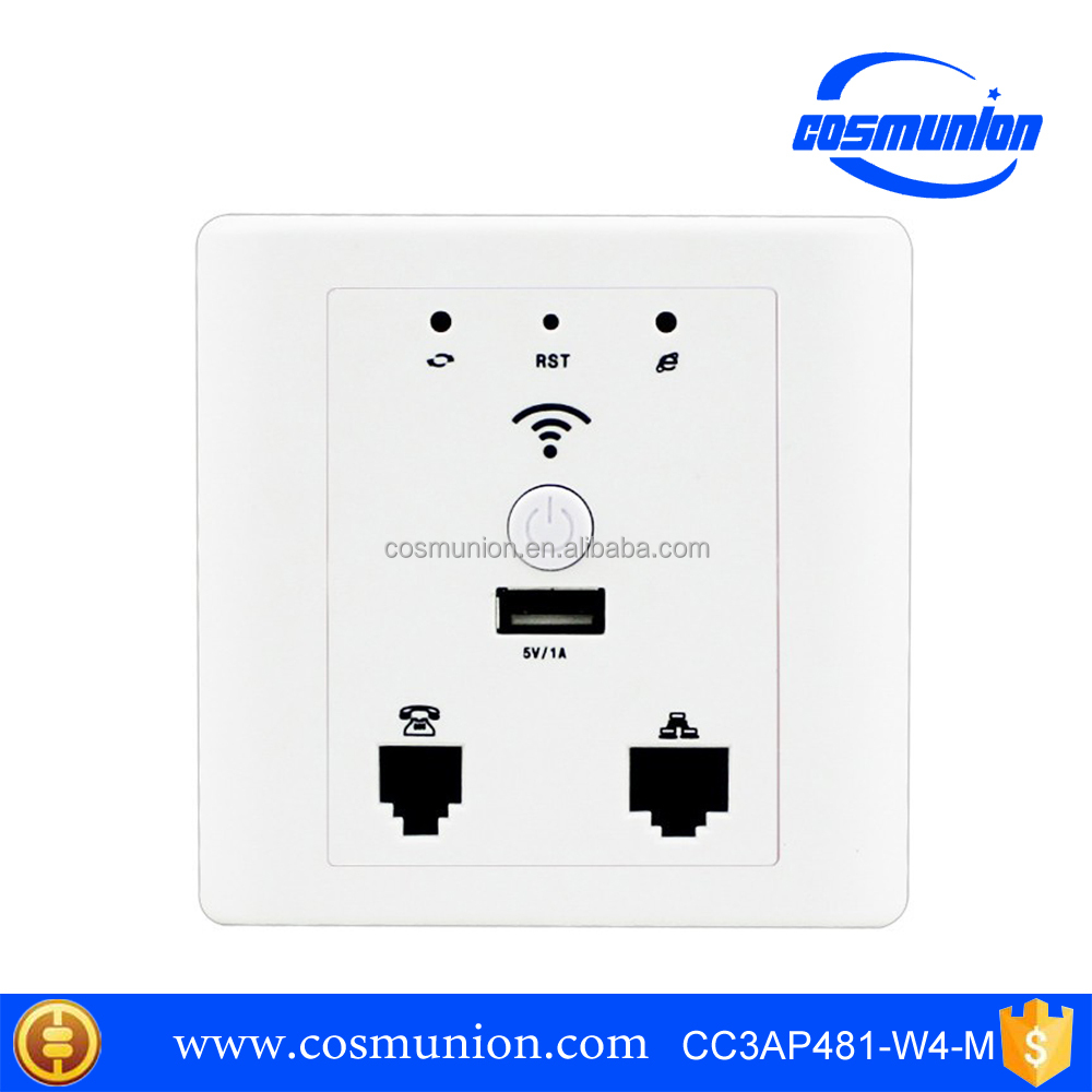 300Mbps in wall access point supports USB Phone port