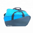 large capacity faille travel sport bag with adjustable strap and handles