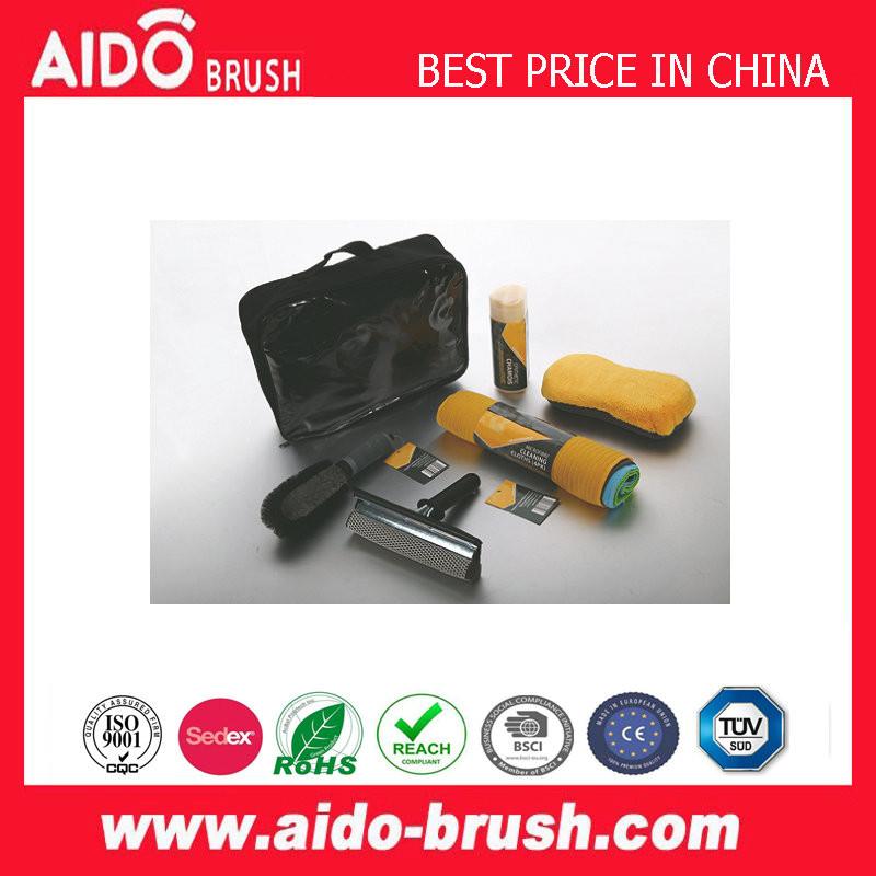 custom popular 8pc Car Washing Tool kit microfiber sponge chenille squeegee mitt set