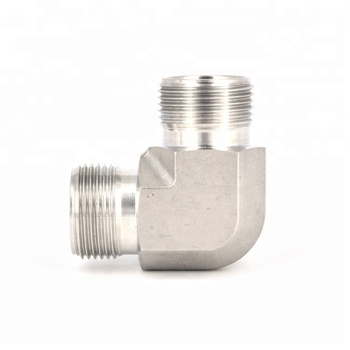 90 Degree Stainless Steel BSP NPT Male Thread Pipe Fittings
