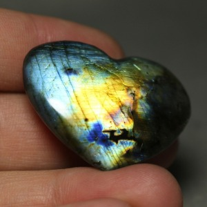 15g Madagascar labradorite natural crystal rock polishing stone heart samples