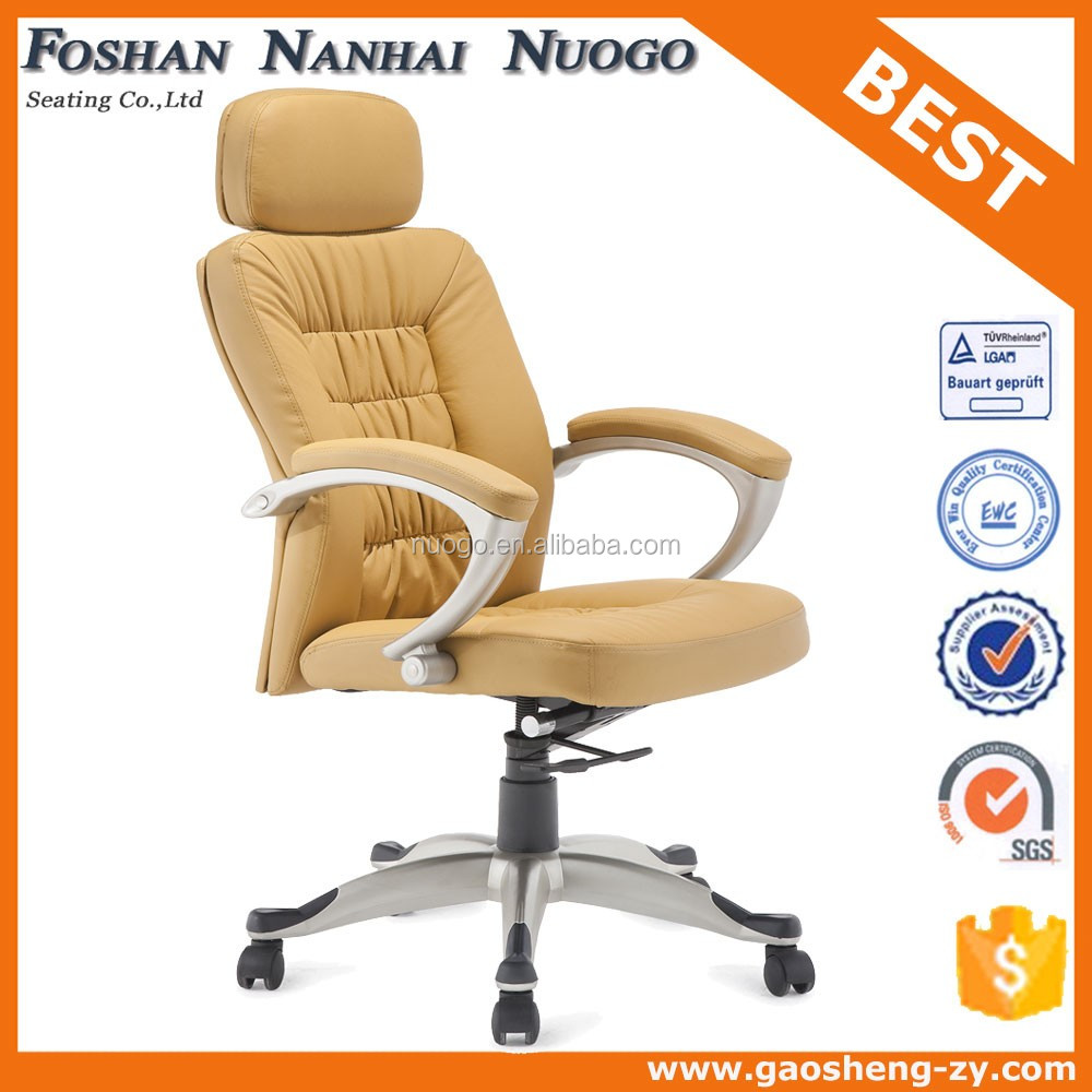 leather boss chair office with thick seat cushion