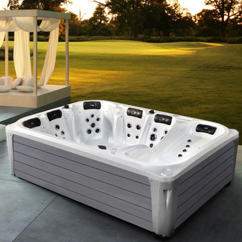 Weißes Holz Rock Großes Wohnzimmer Whirlpool Im Freien - Buy Großes  Wohnzimmer Spa,Weißen Rock Spa,Spa-lounge Product on Alibaba.com