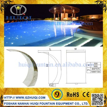 Factory Direct Sale Stainless Steel 304 Swimming Pool Waterfall Spillway Buy Stainless Steel