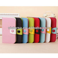 for Samsung i9500 Galaxy S4 Folio Case PU Leather Wallet Pouch Cover Sleeve