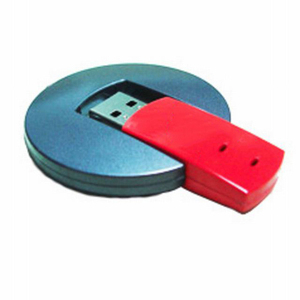 Round Plastic Enclosure Printed Swivel Usb Flash Drive