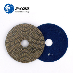 Z-Lion 5 inch 60 # Diamond Tools Electroplated Concrete Polishing Pads