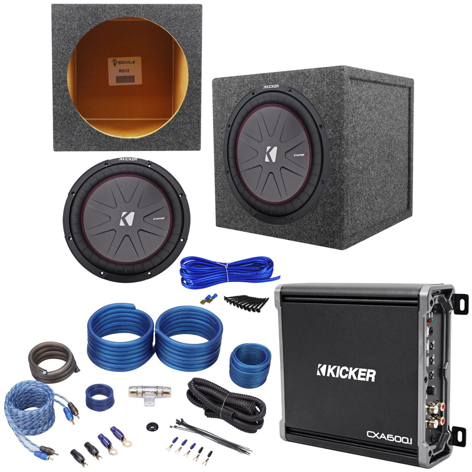 Buy Package  Kicker 40cwr122 12 U0026quot  Compr12 1600 Watt Peak    800 Watt Rms 2