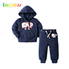 Baby clothes 1 set cotton long sleeve blue baby boy cardigan set
