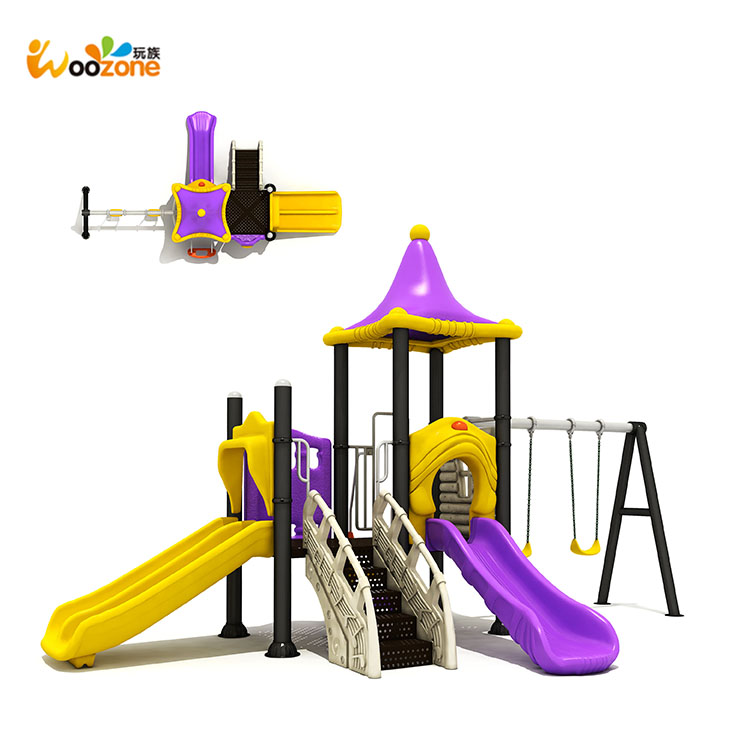Cheap Mini Backyard Kids Mini Plastic Slide And Swing Set ...