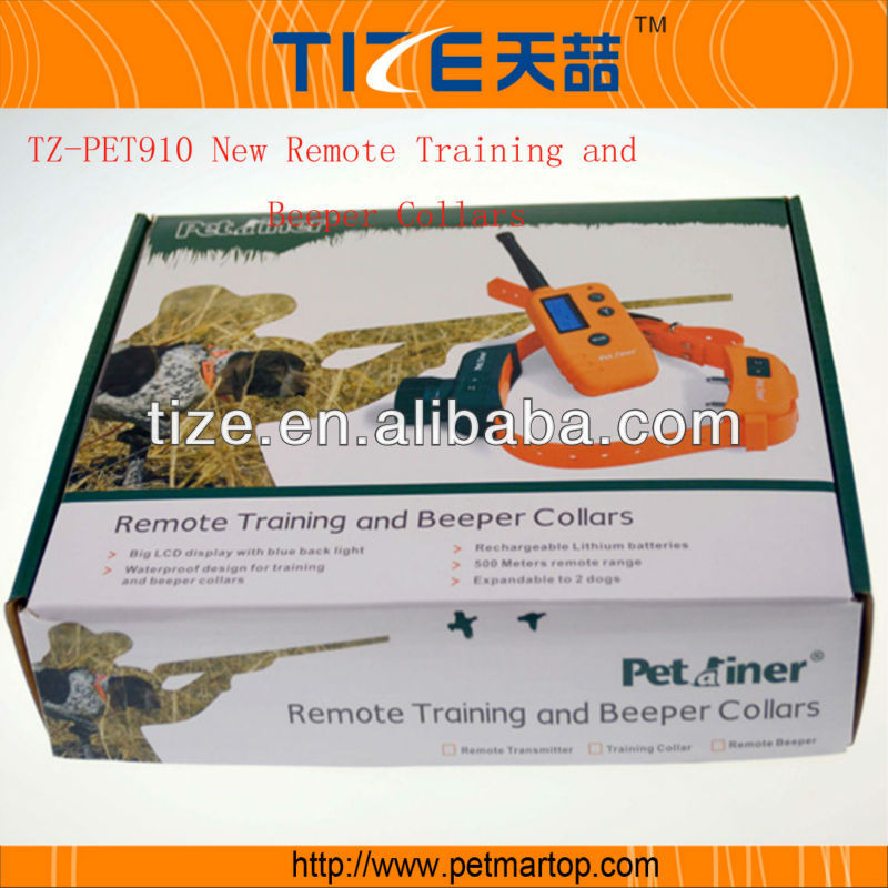 New Remote training and beeper dog shock collar TZ-PET910 Vibrating training collar dog containment