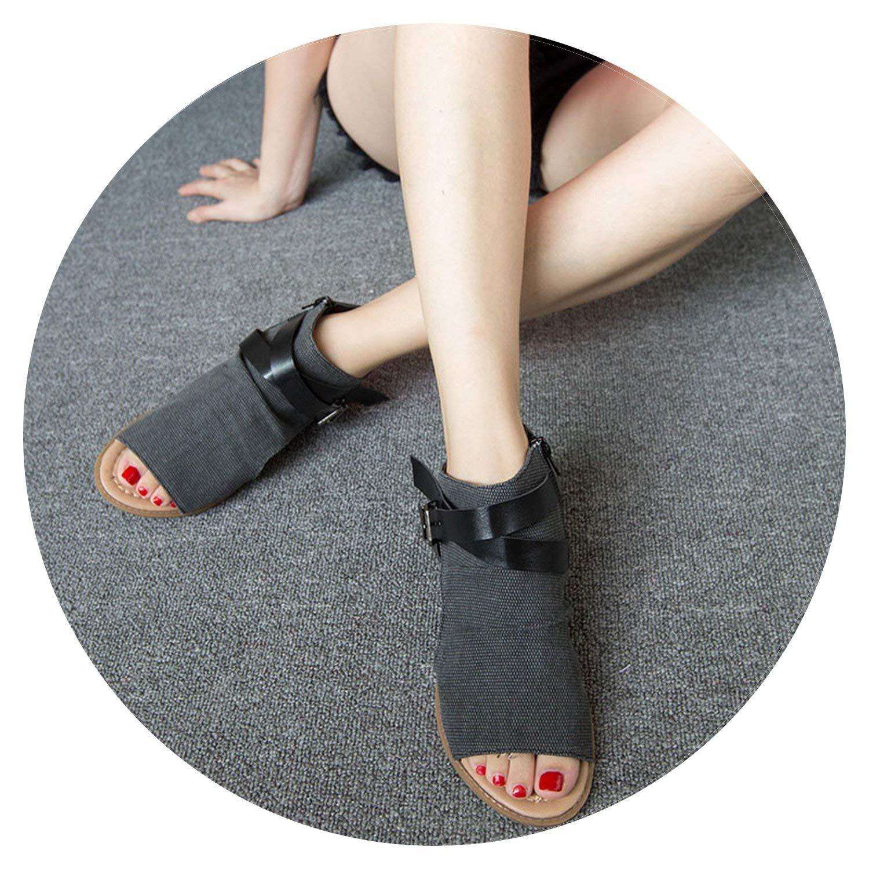e395520a5ae Get Quotations · Women Sandals Summer Sandals Casual Denim Wedge Heel Sandals  Women Open Toe Sandalias