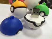 Hot sale unique usb flash drive pokeball shape novelty pokemon poke ball usb memory