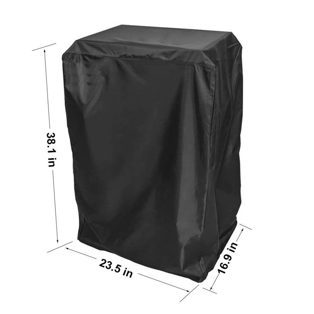 Durable 40-Inch Electric Smoker Cover, Black