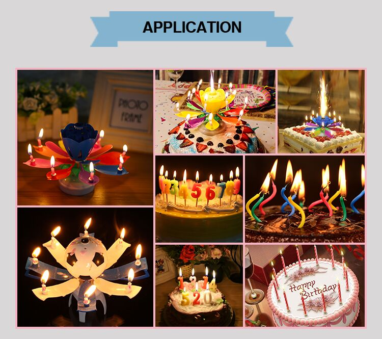 birthday party decoration rose flower candle for India