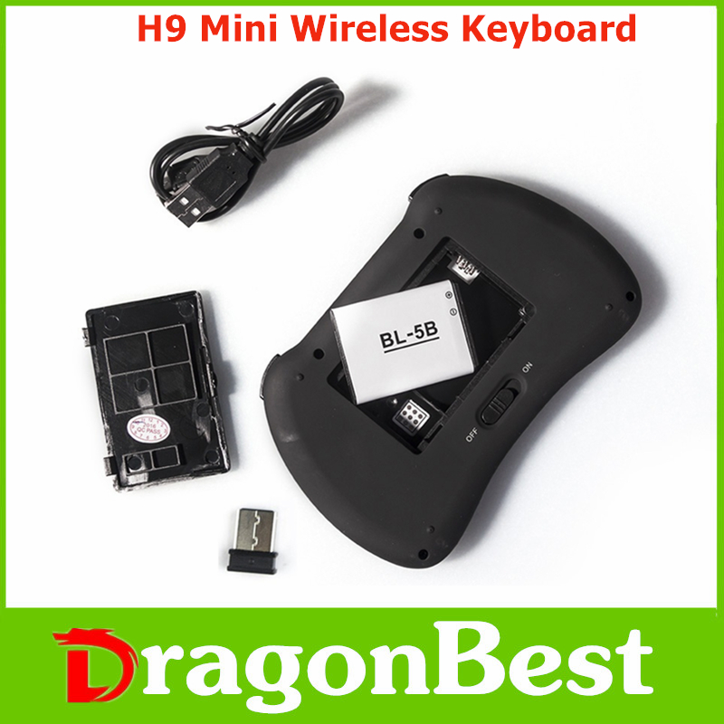 new design H9 Mini Keyboard with Touchpad colorful backlit remote control tv wholesale online 2.4G Wireless remote