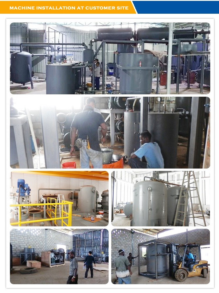 Industrial black used motor oil recycling machines yj ty 5 for Used motor oil recycling equipment