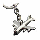 3D zinc alloy airplane keychain wholesale