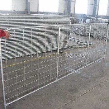 Vertical Brace farm gates with Welded mesh insert features