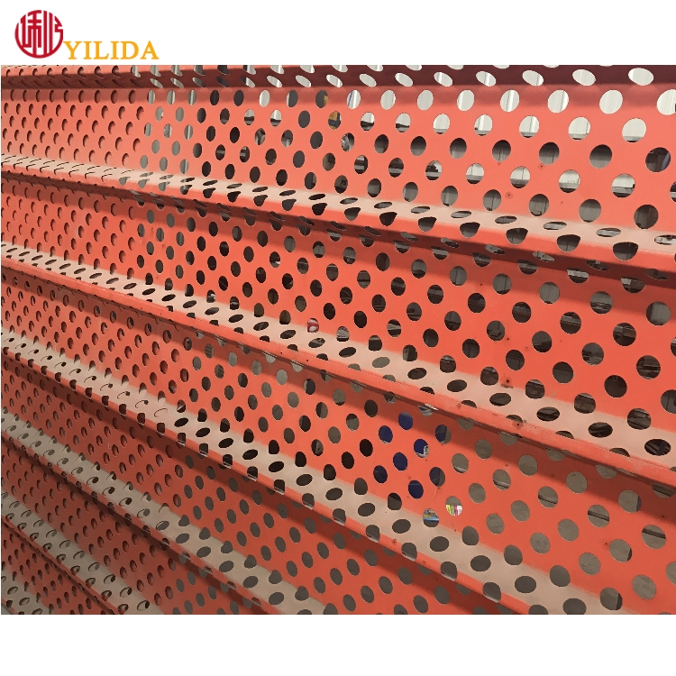 Professional perforated metal sheet for wall panels or roofing