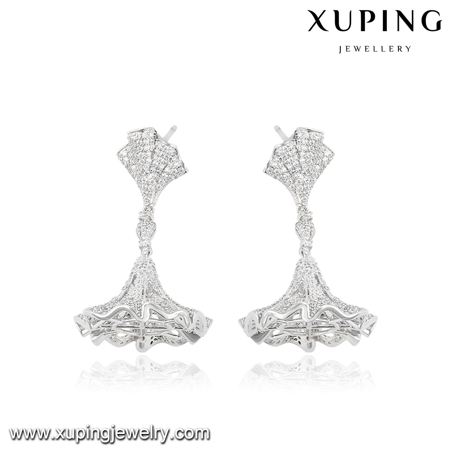 28165 XUPING fashion double side umbrella-type crystal designs women earring