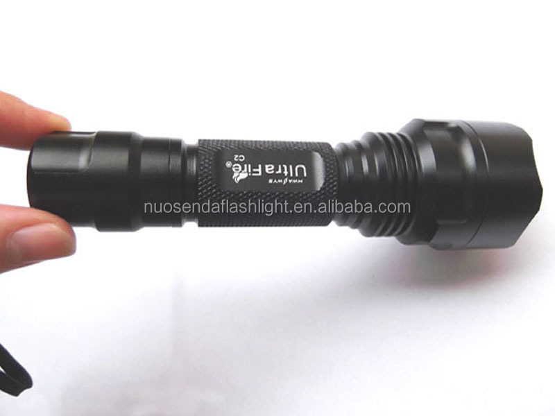 UltraFire C2 1xCREE XP-L V5 2000lm Cool White Light OP LED Flashlight (1 x 18650)