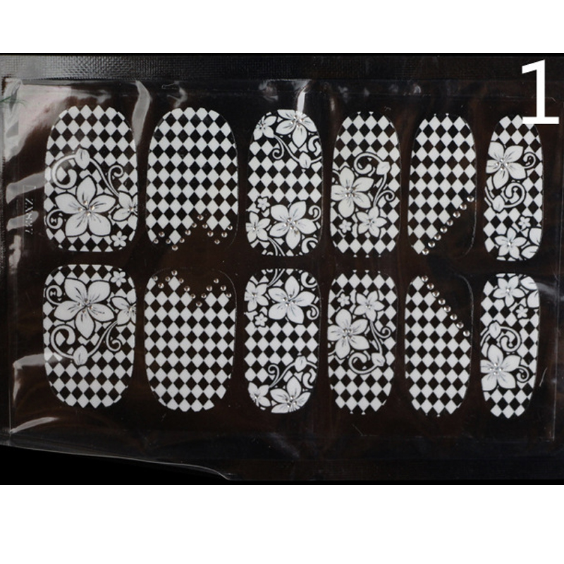 lattice flower design lace nail art  polish sticker home fingernail stencil nail film adhesive decors decals transfer beauty