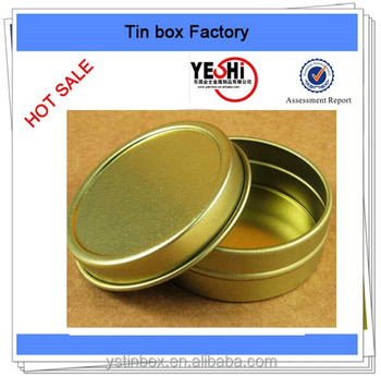 gold round metal tins caviar metal tin can