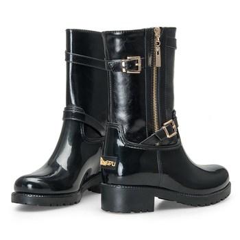 e52e2be56dd4 Tongpu Chunky Heel Women Sexy Rain Boots - Buy Custom Rain ...