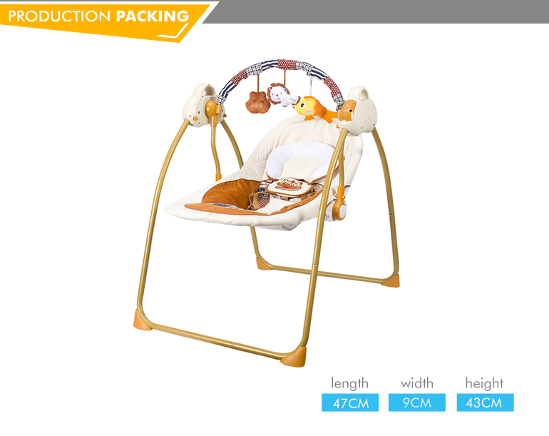 New electric bluetooth rocking chair baby swing cot with music