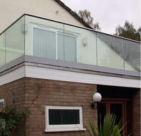 Aluminium frame tempered glass balustrade glass balcony