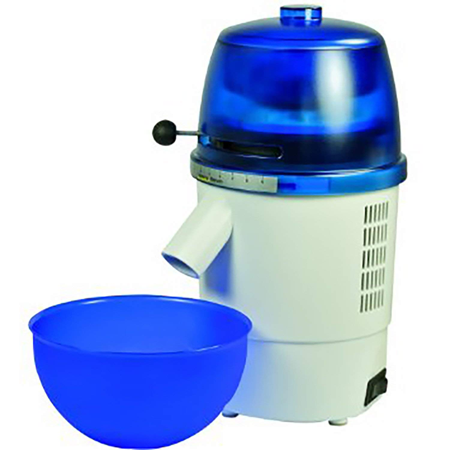 Hawos Novum Grain Mill with Funnel and Bowl Color: Blue 110 Volts